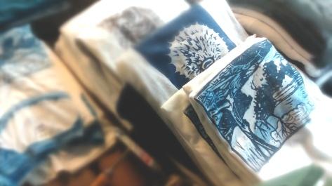 Bowman INK block printed shirts - Big Island, Hawaii